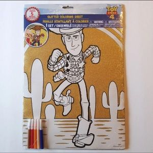 TOY STORY 11 in x 15 in GLITTER COLORING SHEET